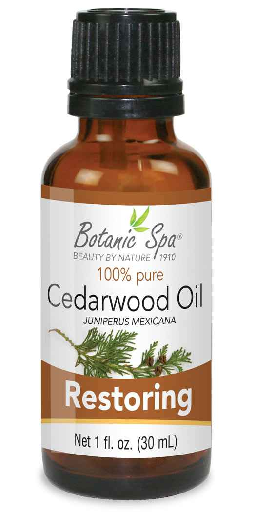 Botanic Spa Cedarwood Essential Aromatherapy and Body Oil - 1 Oz