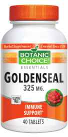 Goldenseal Tablets 325 mg 40 Vegetarian Tablets