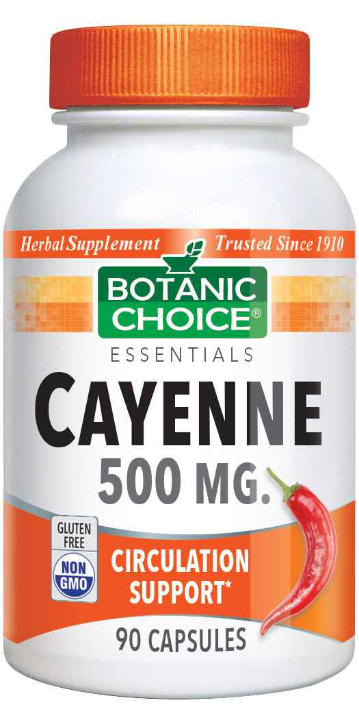 Botanic_Choice_Cayenne_Capsules_500_mg__Circulation_Support_Supplement__90_Capsules