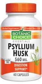 Psyllium Husk Capsules 560 mg 60 capsulesnohtin