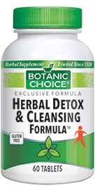 Botanic Choice Herbal Detox / Cleansing 60 tablets