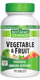 Vegetable / Fruit 90 tabletsnohtin