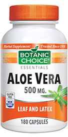 Aloe Vera 500 mg 180 capsulesnohtin