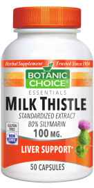 Milk Thistle Extract 100 mg 50 capsules
