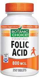 Folic Acid 800 mcg 250 tablets