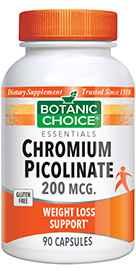 Chromium Picolinate 200 mcg 90 capsulesnohtin