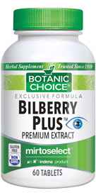 Bilberry Plus 60 tablets