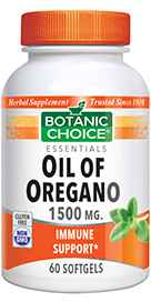 Oil of Oregano Extract 1500 mg 60 softgels