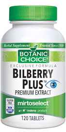 Bilberry Plus 120 tablets