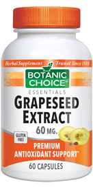 Grapeseed Extract 60 mg 60 capsulesnohtin