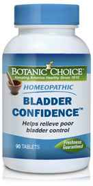 Homeopathic Bladder Confidence Formula 90 tabletsnohtin
