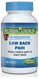 Homeopathic Low Back Pain Formula 90 tabletsnohtin