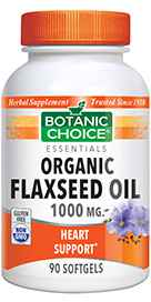 Flaxseed Oil Organic 1000 mg 90 softgelsnohtin