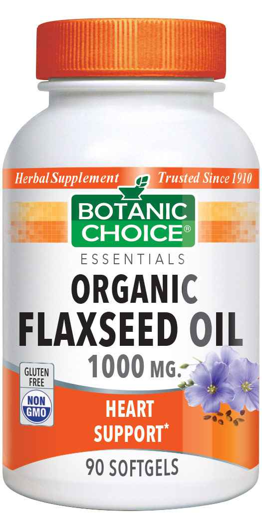 Botanic_Choice_Flaxseed_Oil_Organic_1000_mg_-_Essential_Fatty_Acids_Support_Supplement_-_90_Softgels