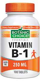 Vitamin B-1 Thiamin 250 mg 100 tabletsnohtin