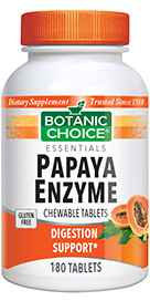 Chewable Papaya Enzyme Tablets 49 mg 180 tablets