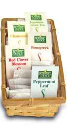 Herb Tea Sampler Gift Basket 30 tea bags