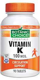 Vitamin K 100 mcg 90 tablets