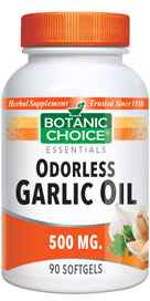 Odorless Garlic Oil 500 mg 90 softgels