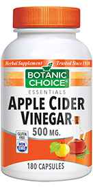 Apple Cider Vinegar 500 mg 180 capsulesnohtin