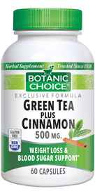 Green Tea and Cinnamon 60 capsules