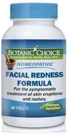 Homeopathic Facial Redness Formula 90 tablets