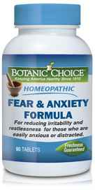 Homeopathic Fear / Anxiety Formula 90 tablets