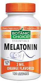 Melatonin Orange Flavored Lozenges 3 mg 120 lozengesnohtin
