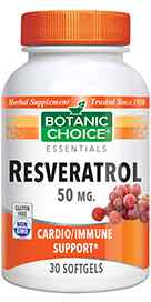 Resveratrol 50 mg 30 softgels