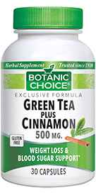 Green Tea and Cinnamon 30 capsules