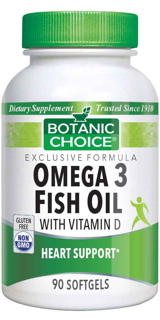 Botanic Choice Omega 3 Fish Oil with Vitamin D - 90 Softgels