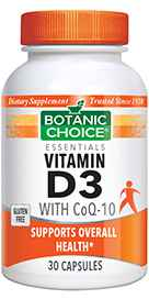Vitamin D3 with CoQ-10 30 capsules