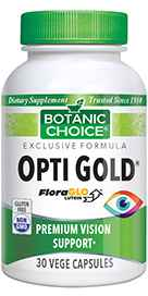 Opti Gold Vision Formula 30 capsules per bottle