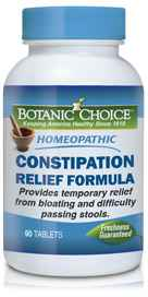 Homeopathic Constipation Relief Formula 90 tabletsnohtin
