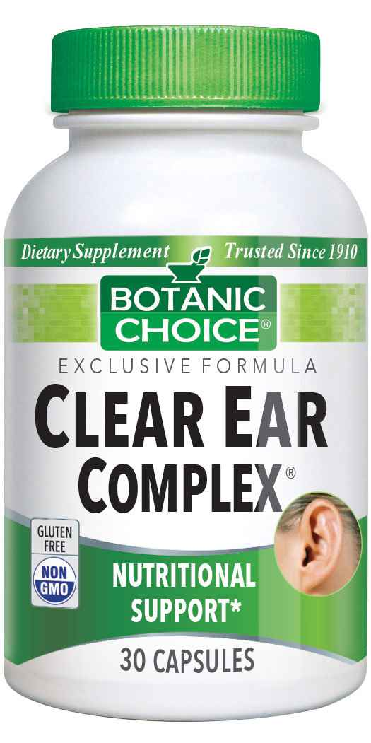 Botanic Choice Clear Ear Complex® - Nutritional Hearing Support Supplement - 30 Capsules