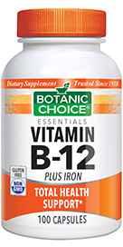 Vitamin B-12 Plus Iron 100 capsules