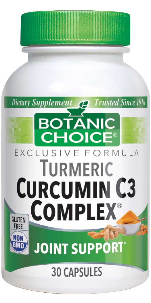 Botanic Choice Curcumin C3 Complex® with Bioperine® - Joint Support Supplement - 30 Capsules