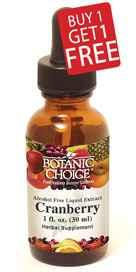 Cranberry Liquid Extract - Buy 1 Get 1 Free 1 oz per bottlenohtin