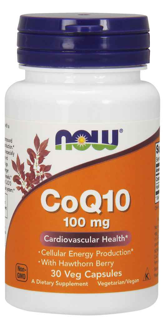 NOW FoodsCoQ10 100 mg with Hawthorn Berry - 30 Vcaps