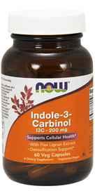 NOW Foods Indole-3-Carbinol I3C 200 mg 60 Veg Capsules