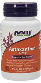 NOW Foods Astaxanthin 4 mg 60 Veggie Softgels