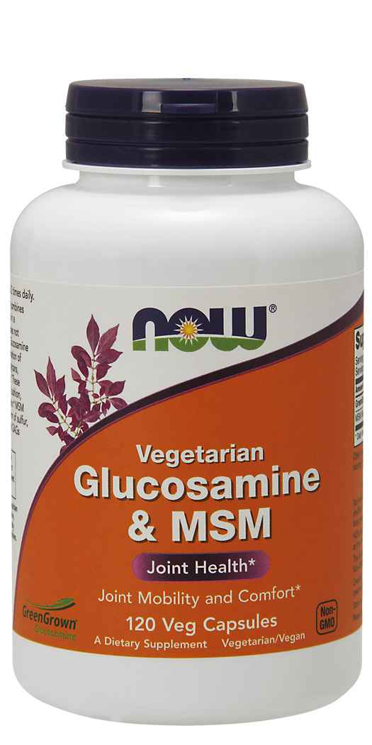NOW FoodsGlucosamine & MSM - Joint Support Supplement - 120 Vcaps