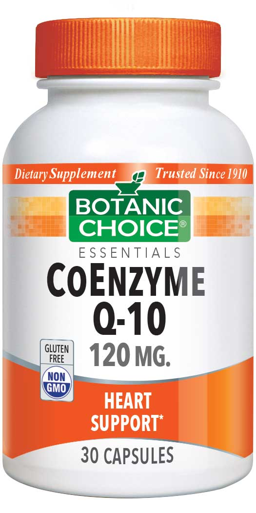 Botanic Choice CoEnzyme Q-10 120 mg - Heart Support Supplement - 30 Capsules