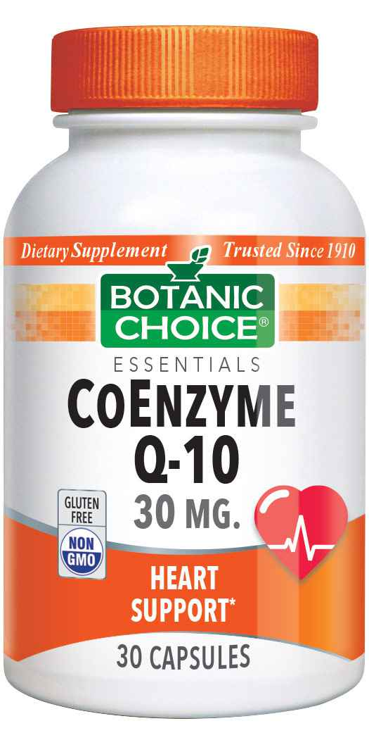 Botanic Choice CoEnzyme Q-10 30 mg - Heart Support Supplement - 30 Capsules