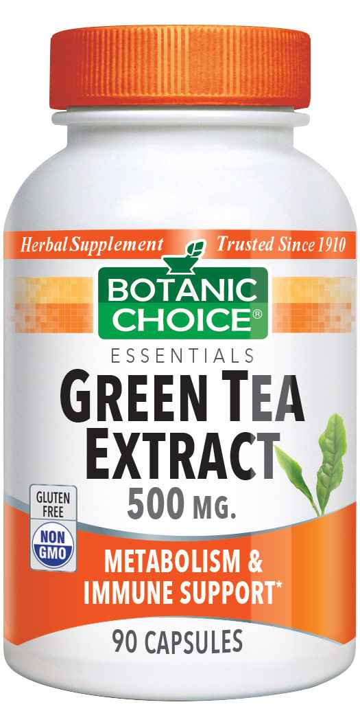 Botanic Choice Green Tea Extract 500 mg - Metabolism & Immune Support Supplement - 90 Capsules