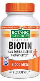 Biotin 5000 mcg 60 Vege Capsulesnohtin