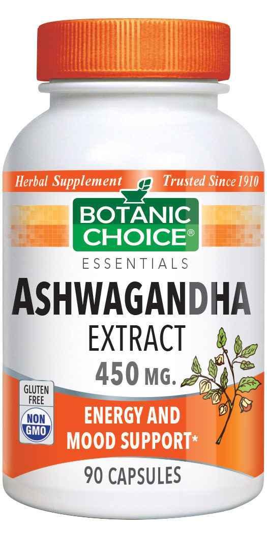 Botanic Choice Ashwagandha Extract - Energy Support Supplement - 90 Capsules