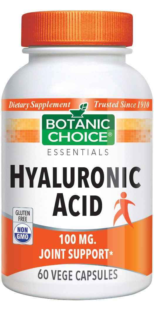 Botanic Choice Hyaluronic Acid 100 mg - Joint Support Supplement - 60 Capsules