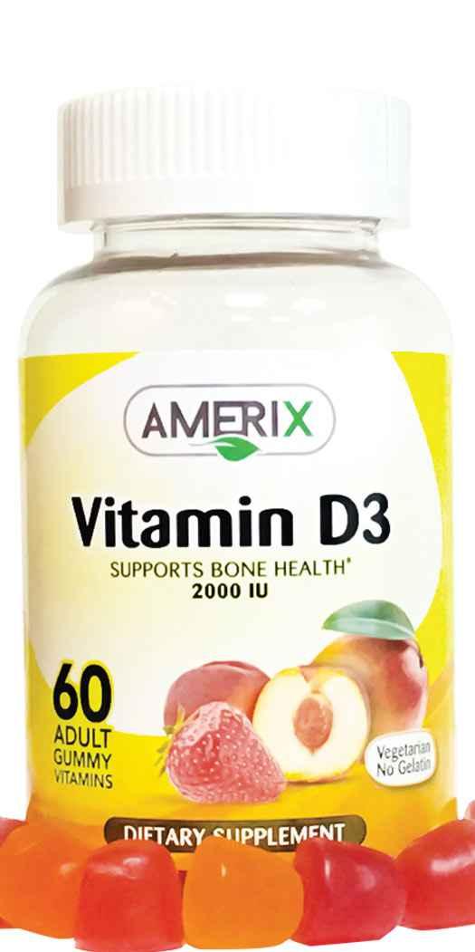 Amerix Gummies Vitamin D3 2000 IU - 60 Gummies