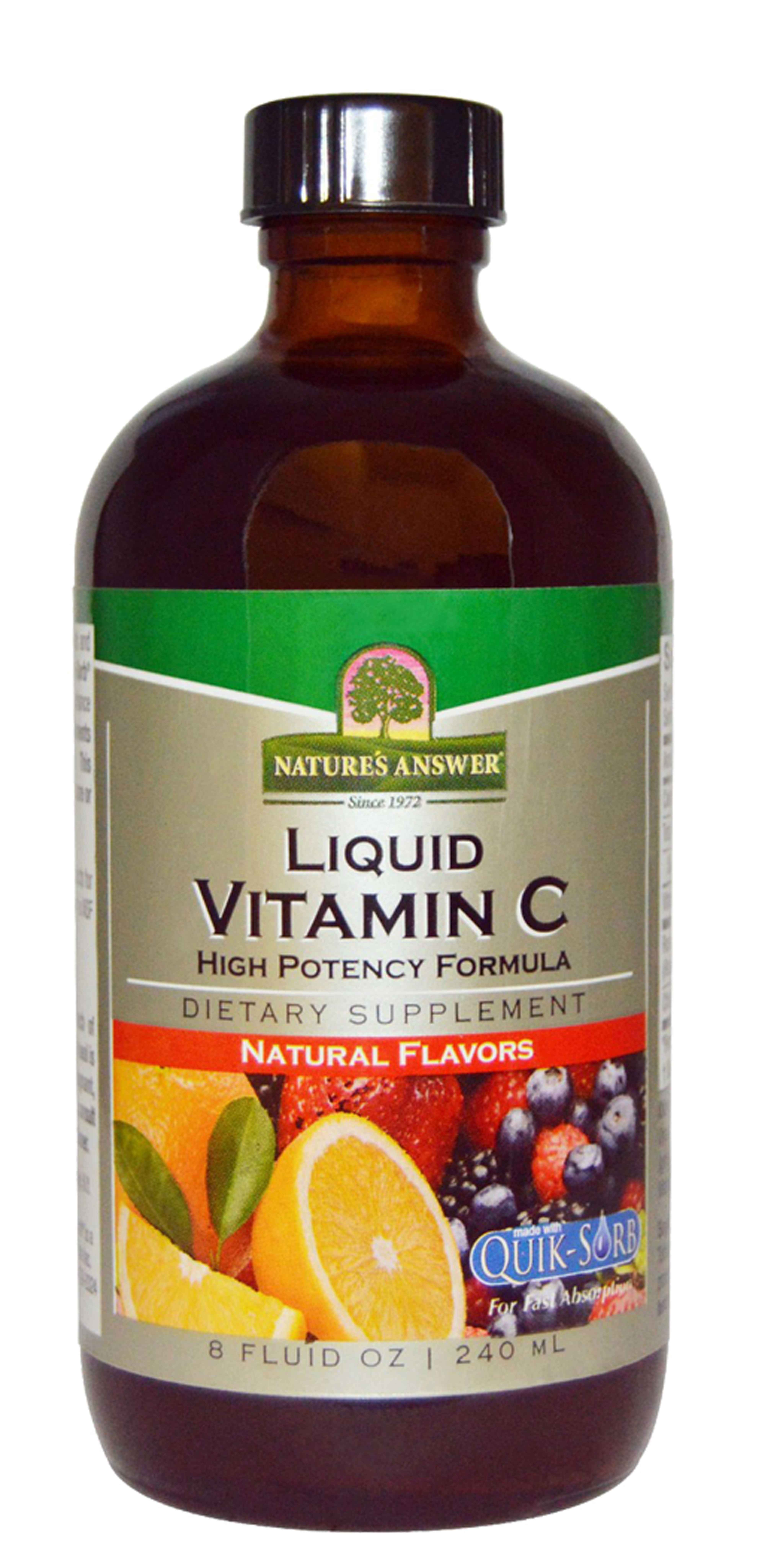 Natures Answer Liquid Vitamin C - Total Health Support Supplement - 8 Oz